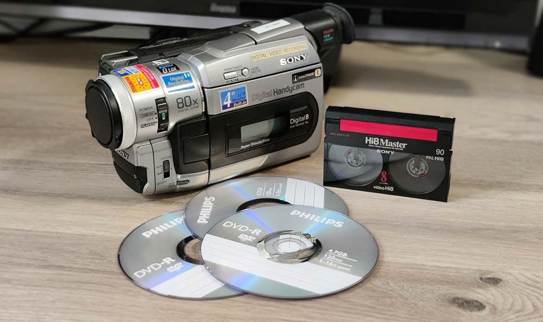 Hi8 sur DVD : transfert des cassettes HI8 sur DVD