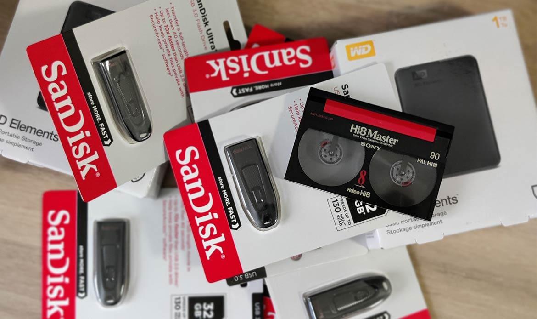 Hi8 sur clé usb : transfert des cassettes HI8 sur clé usb ou disque dur