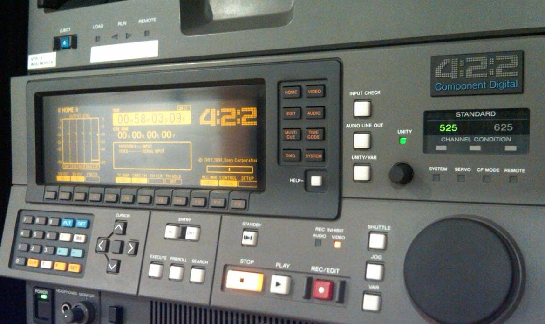 Sony-D-1-VTR-control-panel